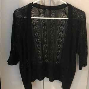 Mini black lace cardigan